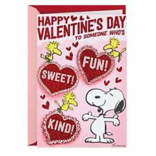 Snoopy & Woodstock Hearts Musical Valentine's Day Card
