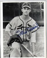 YOUNG STAN MUSIAL SIGNED 8X10 ST LOUIS CARDINALS HALL OF FAMER