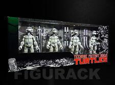 NECA Teenage Mutant Ninja Turtles, Black & White 4 Pack Action Figures Box Set