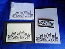 Kitty Litter Kittens 4 Piece Set-Notepad, 6 Blank Notecards, Print & Magnet -New