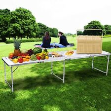 8' Aluminum Folding Table Portable Outdoor Picnic Party Tables US SHIP