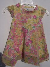 Place Girls Pink Yellow Green Floral Dress Size 24 Months