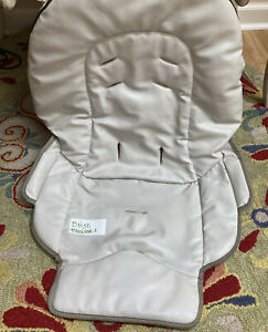 Graco Blossom High Chair Faux Leather Seat Cover Beige Black Trim