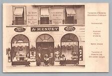 Au Menuet Fabric Store GENEVE Switzerland LUCERNE Antique Advertising 1910s