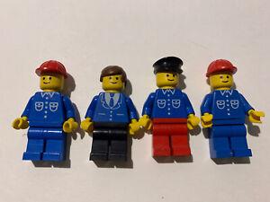 ♠️ Lego : Lot De 4 Personnages Chantier : Train : Vintage ♠️