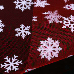 Tulle Fabric Snowflake Christmas Wedding Craft Soft Decor DIY Accessory SG