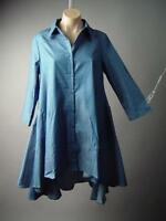Plus Denim Avant Garde Tent Trapeze Handkerchief Sack Tunic Shirt 189 mv Dress