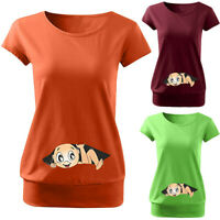 Summer Maternity Cute Funny Baby Print O-Neck Short Sleeve T-shirt Pregnant Tops
