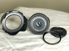 Canon EF-S 24mm f/2.8 STM Pancake Lens w/ Hood and Waka Filter