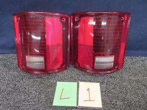GM Tail Lights Brake Lens Covers 5965779 5965777 GMC Truck Chevrolet 73-87 L R