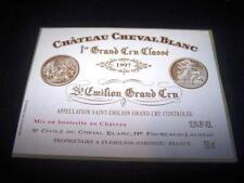 etiquette vin Chateau Cheval Blanc 1997 75CL original wine label wein etikett
