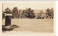 Postcard Rppc Fairlee Vt Vermont Lake Morey Inn 1940 hotel Vermont real photo