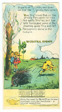 Denver Butter-Nut Bread Trade Card With Porcupine Sit Up Type * On Sale *Tc503