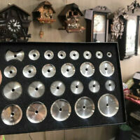 25pcs/kit Watch Back Case Metal Aluminum Closer Press Dies Watch Repair Tools
