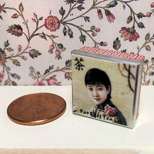 Dollhouse miniature Oriental accessories 1:12 Chinese Tea Tin (C)