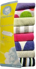 Pack De 8 Baby Kids Soft Wash Cloth bain alimentation serviette Flanelle Essuyer Couleurs Mélangées