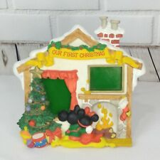 Walt Disney Mickey Minnie Mouse First Christmas Picture Photo Frame Fireplace