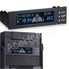 "5.25"" PC HDD CPU Fan Speed Controller Temperature Temp Sensor LCD Panel"