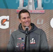 Nike TOM BRADY Super Bowl 51 LI Media Day Quarter Zip Hoodie Jacket Mens Sz 3XL