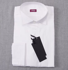 NWT $375 SARTORIA PARTENOPEA White French Cuff Tuxedo Shirt Slim 16 x 35
