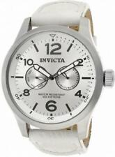 Invicta Specialty 12170 Men's Round Analog Day Date White Leather Watch