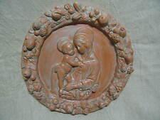 Madonna con bambino Stile DELLA ROBBIA Robbiana tonda terracotta patinata