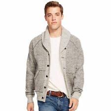 Polo Ralph Lauren Grey Marl Cotton Shawl Sweater Cardigan Jacket-MEN-XLT/TGL