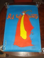 Ultra Rare SIGNED PETER MAX R.J. GRUNTS CHICAGO 1971 POSTER - NEAR MINT - 24x36