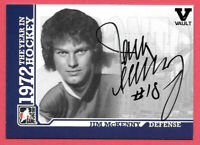 2015-16 Jim McKenny ITG Final Vault 2009-10 1972 The Year in Hockey Auto - Leafs