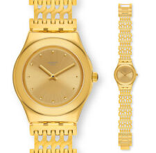Swatch Tricodor Watch YLG132G Analogue Stainless Steel Gold