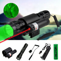 Tactical Combo Green/RED Laser Sight LED Flashlight Picatinny Rail for Hunting