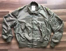 Vintage Bomber Jacket Jay Dee Summer Flyer Fire Reaistant Mens Large Military