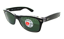 Authentic RAY-BAN New Wayfarer Polarized Sunglasses RB 2132 - 605258 *NEW* 52mm