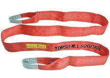 Hebeband Sangle rundschlinge avec boucles 5000 kg 5 M Longueur 150 mm largeur rouge