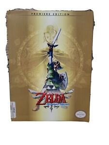 The Legend of Zelda Skyward Sword Premiere Edition Strategy Game guide w/poster