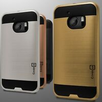 For HTC 10 Case - Slim Hard Faux Brushed Metal Phone Armor Cover