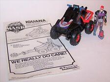 Vintage 1986 M.A.S.K. Iguana Vehicle with Action Figure, Helmet  & Instructions!