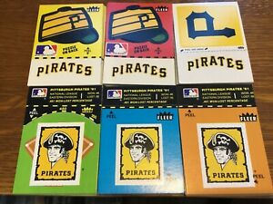 SIXTY 1982 FLEER BASEBALL STICKERS PITTSBURGH PIRATES (6) DIFFERENT (10) EACH