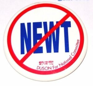 2012 anti NEWT GINGRICH campaign pin pinback button political president election