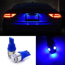 2x Ultra Blue Tag License Plate T10 Wedge LED Light Bulbs 192 168 W5W 2825 259
