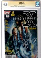 x- files topps.signed by david duchovny 25 cgc.9.6