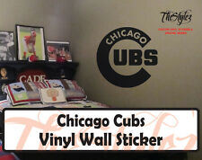 Chicago Cubs Baseball Vinyl Wall Sticker