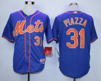 HOT Men's New York Mets Baseball Jersey No.31 Piazza BLUE color, 5 size M-3XL