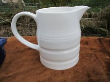 Vintage STYLE White Banded Traditional Dairy Kitchen Jug