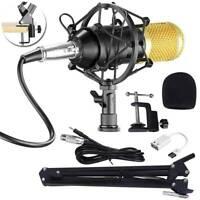 BM800 USB Kondensator Mikrofon Set Professionell Podcast Komplett Set für Studio