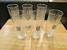 Set of 6 Jack Daniels Handcrafted Barrels Tall Cocktail Glasses NEW