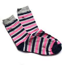 Ringelsocken Söckchen Socken geringelt Streifen pink blau grau Größe 35 - 38 NEU