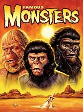 Famous Monsters Planet of the Apes by Jason Edmiston 18 x 24 Poster
