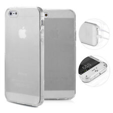 Funda de TPU iPhone 5 5s se silicona funda carcasa cover Matt clear antipolvo blanco