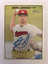 2016 TOPPS HERITAGE MINOR LEAGUE ARIEL JURADO CERTIFIED REAL ONE AUTOGRAPH CARD